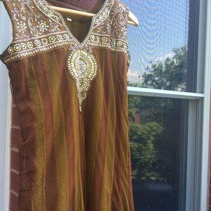 Dresses & Skirts - anarkali  indian long net dress salwar S